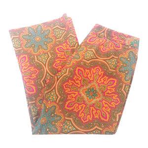 Trina Turk Orange Mandala Wide Cropped Pants   6